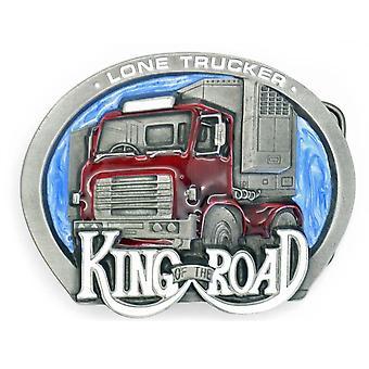 Βασιλιάς του δρόμου - μοναχική πόρπη ζωνών Pewter φορτηγατζήδων