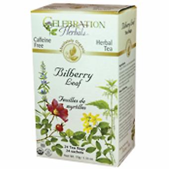 Celebration Herbals Organic Bilberry Leaf Tea, 24 Bags