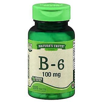Luonnon totuus B-6, 100 mg, 100 Tabs