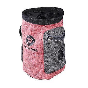 Pet snack taske med lommer (rød)