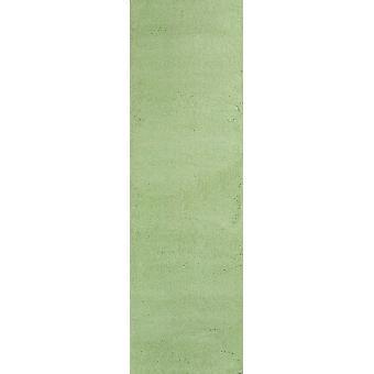 2' x 7' Spearmint Green Plain Runner  Rug
