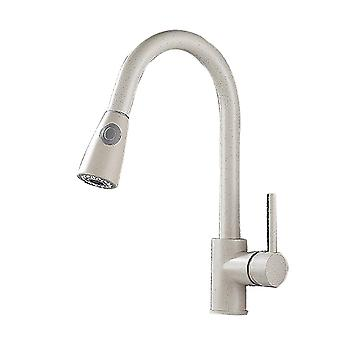 Mimigo Modern Hot And Cold Faucet 2 Water Outlet Modes Rotate 360 Degrees Pull Down