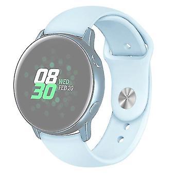 Reloj de correa de silicona de color sólido para Galaxy Watch Active 2 Size L Light blue