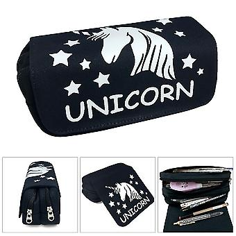 Unicorn double-layer pencil case for children with large capacity(Color-6)