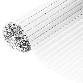 Natur Dubbelsidig trädgårdsskärm PVC 1×3 m Vit