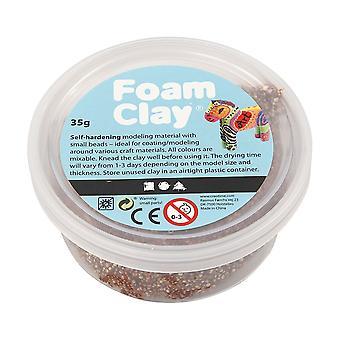 35g Brown Foam Clay för Childrens Modellering Hantverk