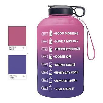 كبيرة 2.2l زجاجة مياه تحفيزية، الرياضة إبريق المياه مع علامة الوقت