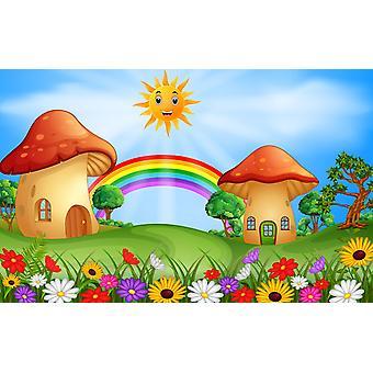 Tapeta Mural Grzybowe domy w terenie