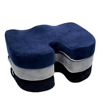 Office Driving Beautiful Buttocks Cushion U-shaped Cushion Memory Foam Chair Cushion(Black)