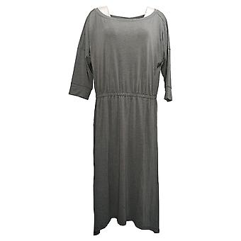 Brittany Humble Petite Dress B.E. Ready Dolman Sleeve Midi Gray 753827