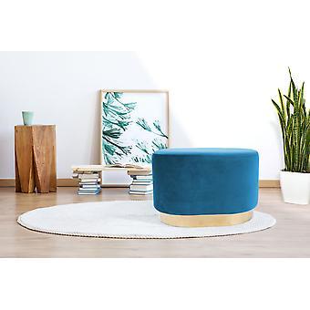 Ottoman - Modern - Blue - Pine wood - 55cm x 35,5cm x 43cm