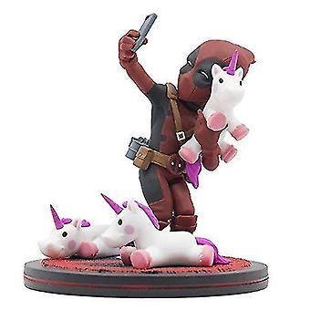 Video game consoles deadpool unicorn selfie q-fig max toons figure