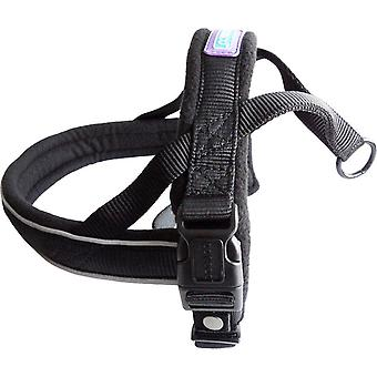 Pet collars harnesses dog co nylon norwegian harness reflective padded black medium