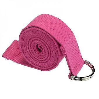Yoga mat bags straps 1.8Mx3.8Cm yoga strap adjustable d-ring durable cotton exercise straps buckle pink