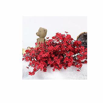Casa Arredamento Falso Fiore Seta Fiore Moda Stile Europeo Semplice Piccola Sposa Gypsophila Holding Rosso Gypsophila 3pcs