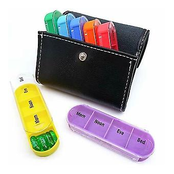 7 Day  28 Removable Compartments Weekly Pill Box