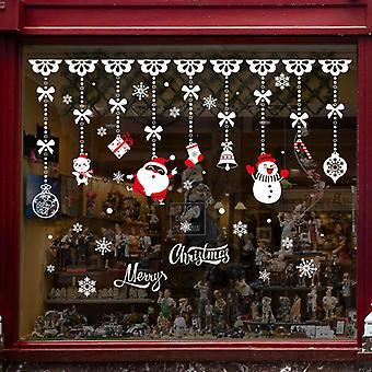Buon Natale Decalcomanie Parete Adesivo Vetrina Porta Parete Decalcomania