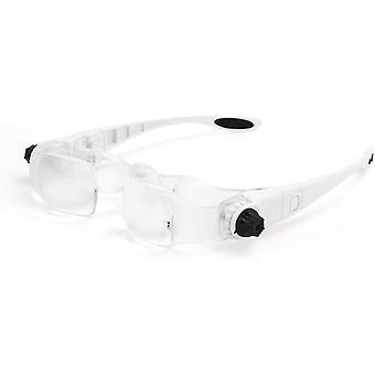 Tv Magnifier Handsfree 1.5-3.8x Headset Binocular Glasses Watch Tv