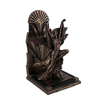 The Winged Woman Metallic Copper Finish Art Deco Single Bookend Statue