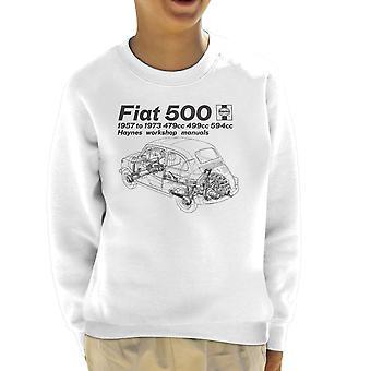 Haynes Workshop Manual Fiat 500 Black Kid's Sweatshirt