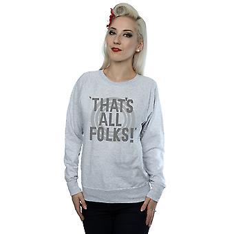 Looney Tunes Women's That's All Folks Text Sweatshirt