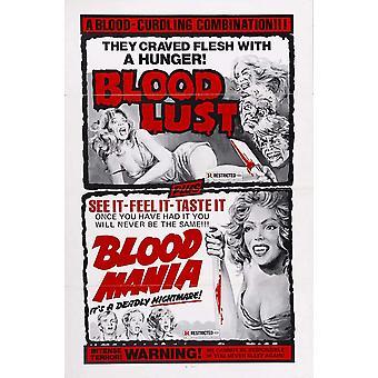 Affiche du film sang Mania (11 x 17)