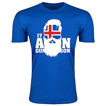 Island Aron Gunnarsson T-Shirt (blå)