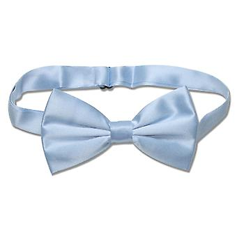 100% SILK BOWTIE Solid SKY Men's Bow Tie for Tuxedo or Suit