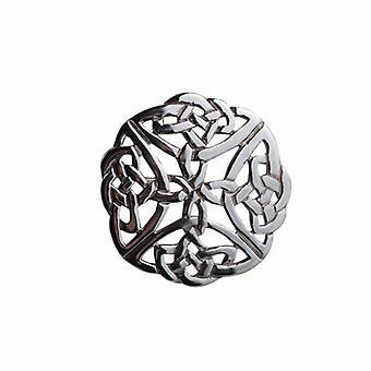 Silver 29mm round Celtic knot design Brooch