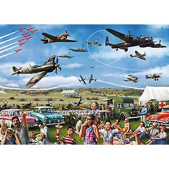 Falcon Deluxe Family Airshow Jigsaw Puzzle (1000 Pieces)
