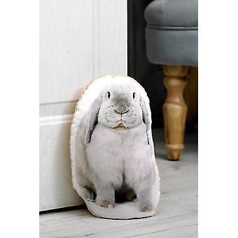 Adorable rabbit shaped doorstop