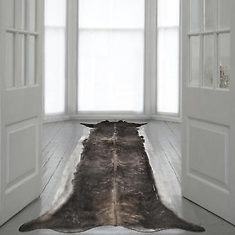 Rugs -Mineheart - Super Long Stretched Cowhide Rug in Natural Brown