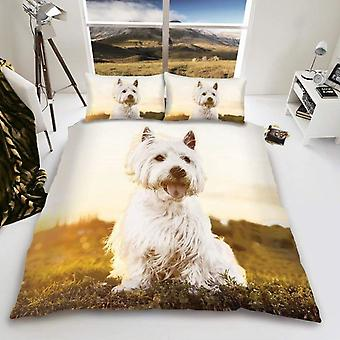 Westie Dog Duvet Cover Bedding Set