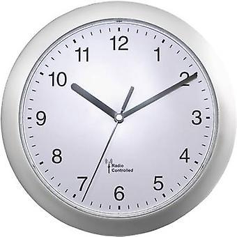 EUROTIME 56787 Radio Wall clock 25 cm x 3.8 cm Silver