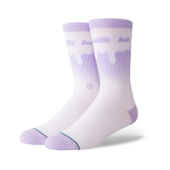 Stance Melt Down Crew Socks in Lavender
