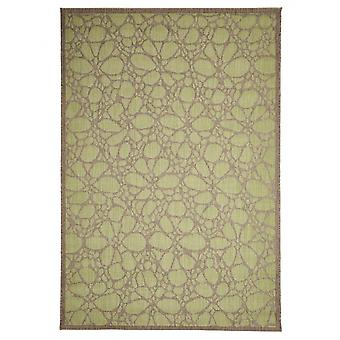 In-si in aer liber covor balcon/living Fiore verde-natural 135 x 190 cm