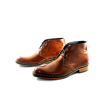Handcrafted Premium Leather Triphane Brown Ankle Shoe
