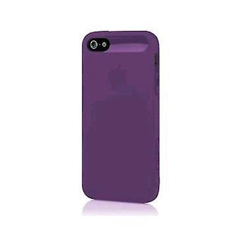 5 Pack -Incipio NGP Caso Suave Semi-Rígido para Apple iPhone 5/5s/SE - Púrpura transparente