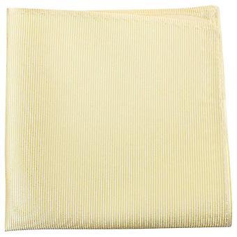 Cravatte di Knightsbridge a costine fazzoletto di seta - giallo chiaro