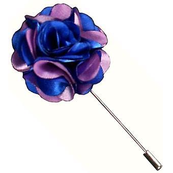 Bassin und braune florale Anstecknadel - blau/lila