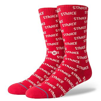 Stance Repeat Crew Socken in rot