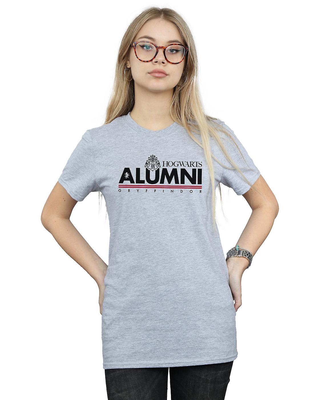 Harry Potter Women's Hogwarts Alumni Gryffindor Boyfriend Fit T-Shirt
