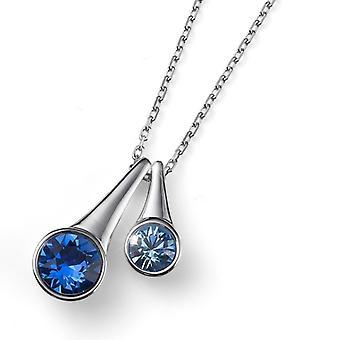 Oliver Weber hanger Duo Rhodium, blauw