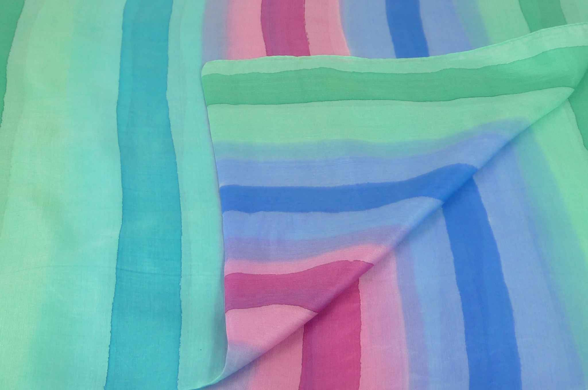 Mulberry Silk Classic Long Scarf Joshi Rainbow Palette by Pashmina & Silk