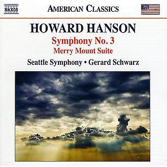 H. Hanson - Howard Hanson: Symphony No. 3 [CD] USA import