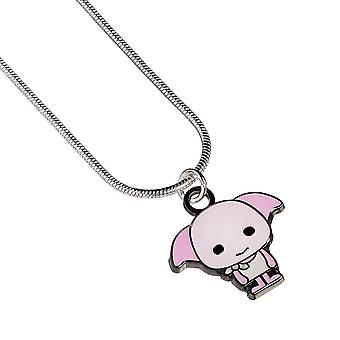 Harry Potter Silver Plated Chibi Dobby Necklace