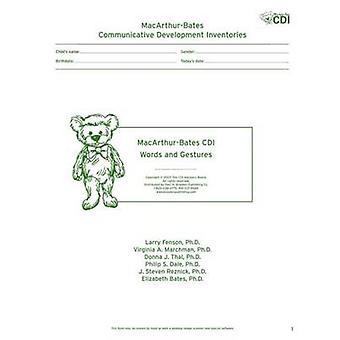 MacArthur développement communicatif des inventaires (CDIs) - mots et Ges