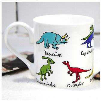 Tyrrell Katz 2 Zeile Dinosaurier Bone China Becher