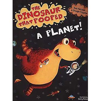De dinosaurus die een planeet Pooped