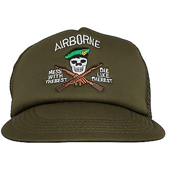 Airborne Kill'em All Half Mesh Baseball One Size Cap Hat